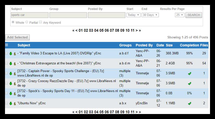 Usenetserver Global Search