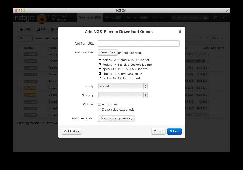 Nzbget Download Dialogue