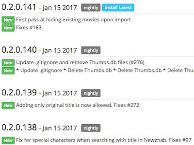 Radarr Nightly Updates