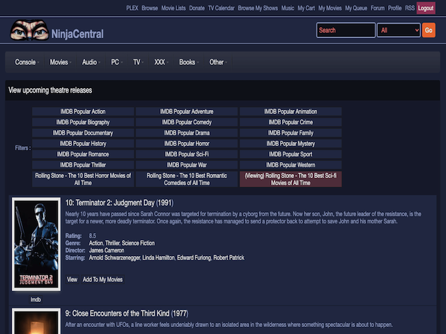 Ninjacentral Movie List