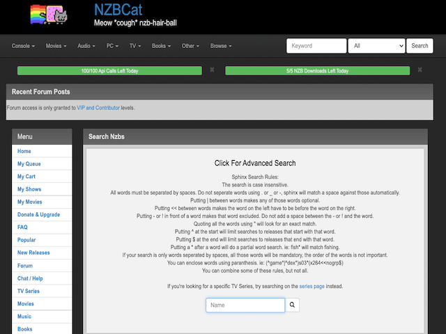 Nzbcat Advanced Search
