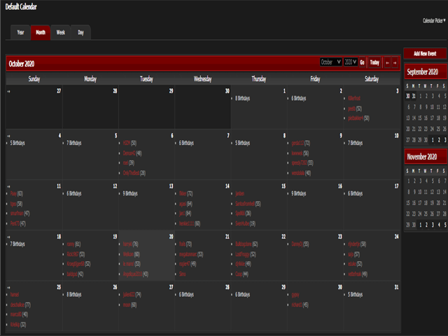 Pirates4all Calendar